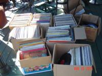 huge vinyl record collection, go back to the 50's. old