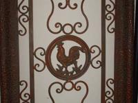 **Large Rooster Metal Wall Plaque**  Only asking $75.