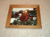 nice rose picture in beautiful frame. asking $20 obo