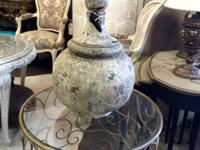 "Large Round Crusted Finial 17"" Tall and 29"" Tall $175"