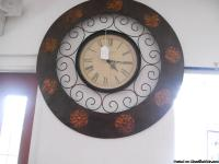 Large round wall hanging clock measures  32 x 30.