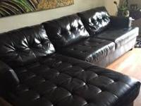 I have a brown sectional couch for sale. Like new! I