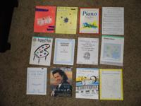 Many music books for the piano. This lot includes music