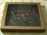 Large sellers Jewelry Case Portable wood and