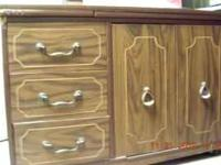 For sale is a very nice 3 drawer sewing cabinet with