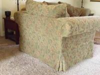 SOFA AND CHAIR ARE IN VERY GOOD CONDITION NO KIDS OR