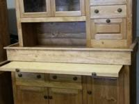 Large Stained Finish Conestoga Cupboard/Hutch Pull-out