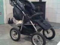 Large alluminum frame collapsable stroller with 12""