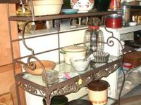 Very pretty decorative metal work on this rack.  In
