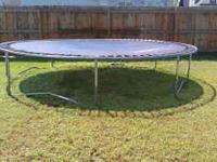 Moving soon and will not be taking the trampoline. It