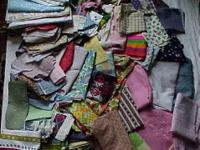 This is 20 pounds of vintage fabric,lots of different