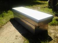 Large full size Husky Diamond plate truck bed tool box