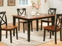 "Large Two Tone Table Set -- 48""L x 36""W x 30 H Table -"