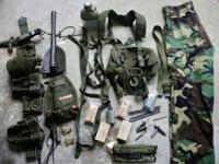 ITEMS UP FOR SALE IS A LARGE LOT OF US MILITARY FIELD