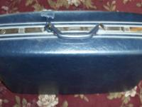 "LARGE VINTAGE SAMSONITE SUITCASE 25"" HARD SIDE...NAVY"