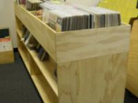 Large storage cart designed to hold LPs, also has lower