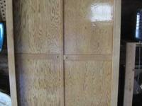 large lightweight white cedar wardrobe with double