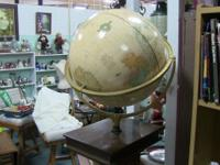 "Lovely old-fashioned style 14"" globe with 2 axes of"