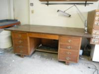 This is a large wood desk, very heavy / pick up only