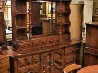 Large Wood Triple Dresser Chest Drawers  Get there 1st