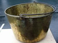 Extra large Brass Pail or Bucket, measures 21 1/2""