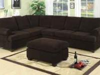 Large Sectional available in Chocolate Brown or a Wine