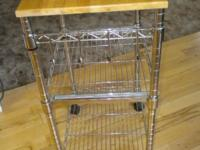 NICE SIZE KITCHEN KART WITH PULL OUT BASKETS AND
