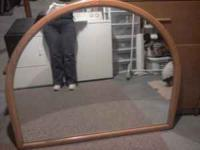Large Oak Wall Mirror - Great condition Asking $75.00
