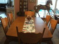 Beautiful Large Pecan Dining Table (no Chairs) 74? x
