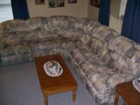 for sale large 3 peice sectional with full size