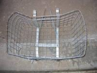 Cool and Vintage -- this large wire basket just needs a