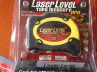 This Laser Level is BRAND NEW! It includes belt clip