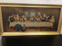 I have a Last Supper Picture with frame outline in gold