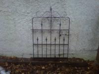 Selling two similar styles of iron fencing. Despite