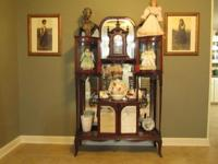 Antique Mahogany Curio Cabinet. All glass and mirrors