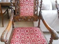 Late 19th Century European Carved Seat Chair in
