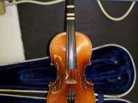 Made in Czechoslovakia-Stradivarius copy, plays well.