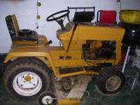 Late 60's early 70's Cub Cadet riding mower. Its needs