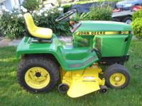 VERY NICE JOHN DEERE MODEL 316 GARDEN TRACTOR, THIS IS