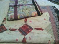 2 ea stunning 100 % handmade, 100 % handstiched quilts