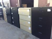 We have a large inventory of Lateral 4 drawer and