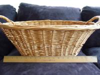 WICKER LAUNDRY BASKET. LARGE AND VERY 1950'S. EXTREMELY