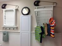 "This laundry rack is 23""W x 28""H x 3.5""D, smaller than"