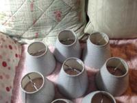 Set of Eight Fabric lampshades. Perfect for small lamps