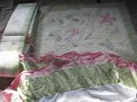 I have a barley used laura ashley crib bedding set all