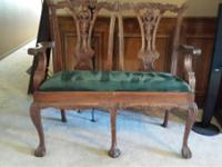 Laurel Crown Furniture- Chippendale 2 Seater Settee