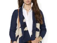 Lauren Jeans Co.'s ultra-soft cardigan is crafted from