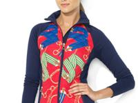 Lauren Ralph Lauren's soft cotton jacket is designed