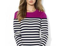 This essential striped sweater features a stylish