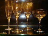 Vintage glasses by Gorham Crystal, Laurin pattern. If